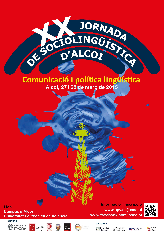 Cartell XX Jornada de Sociolingüística d'Alcoi 2015