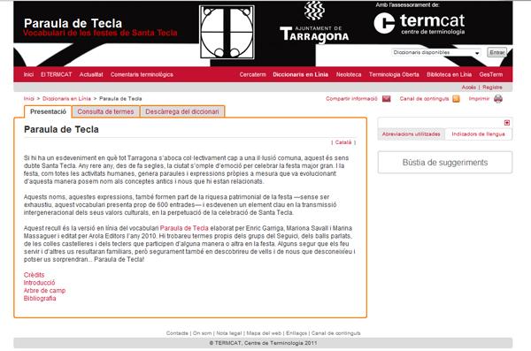 Paraula de Tecla web