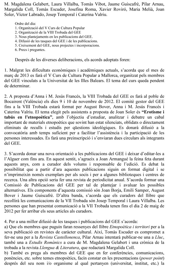 Acta GEE 2011