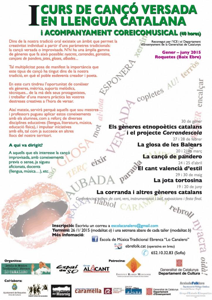 Cartell oficial Ir CURS DE CANT VERSAT