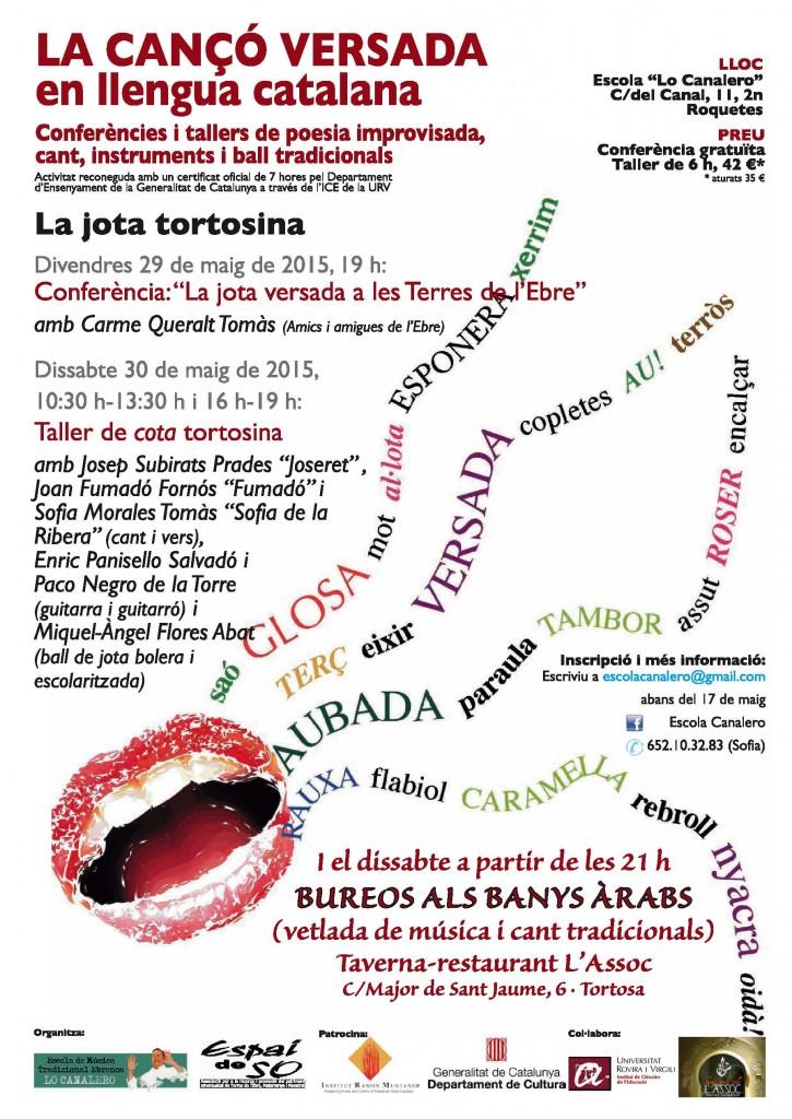 cartell taller maig JOTA TORTOSINA