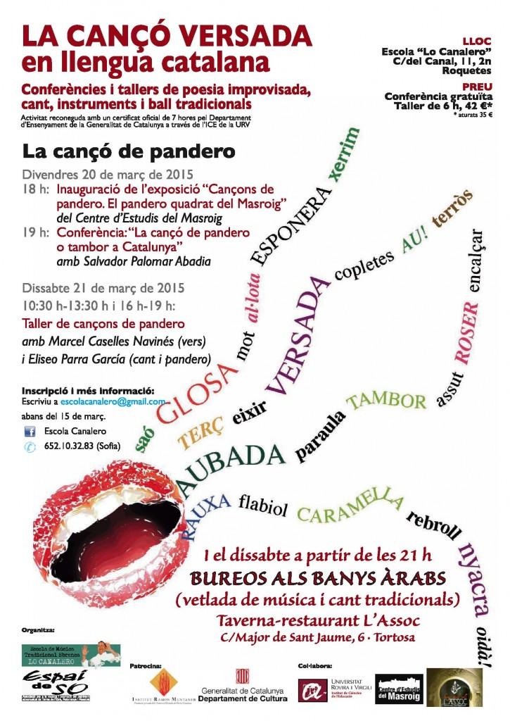 cartell taller març PANDERO