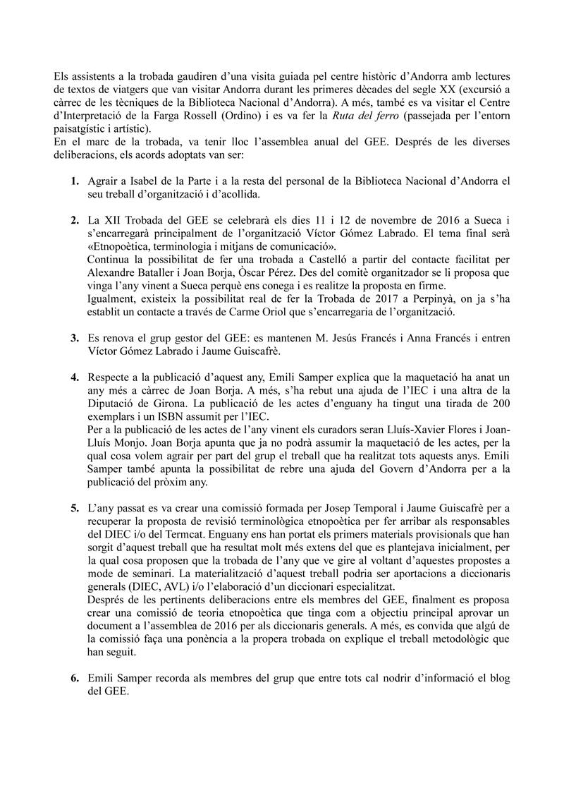 Acta Andorra GEE-2