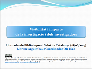 Visibilitat Impacte Investigació