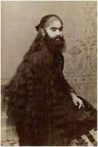 Una de les fotografies d'Annie Jones (1865-1902), realitzada per Charles Eisenmann, com a material de venda per al públic dels espectacles de P. T. Barnum