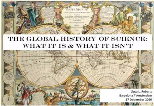 Crònica de The global history of science 17/12/2020