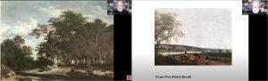 Figura 1. Pintures de Ruisdael i Post, respectivament.