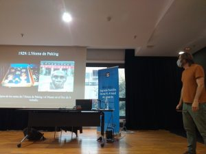 Foto 1. Miquel Carandell durant la seva xerrada.